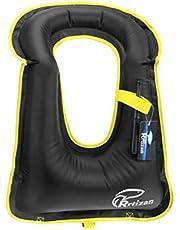 Rrtizan Zwemvest voor kinderen, draagbaar opblaasbaar drijfvermogen hulpmiddel zwemvesten veiligheid voor kinderen 2-9 jaar, 15-50 lbs jongens en meisjes, ideale Flotation Snorkelvesten met veiligheidsgesp