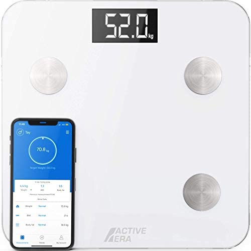 Active Era Smart Body Fat Scale Bluetooth Digital Bathroom Scale with 15 Essential Features product image