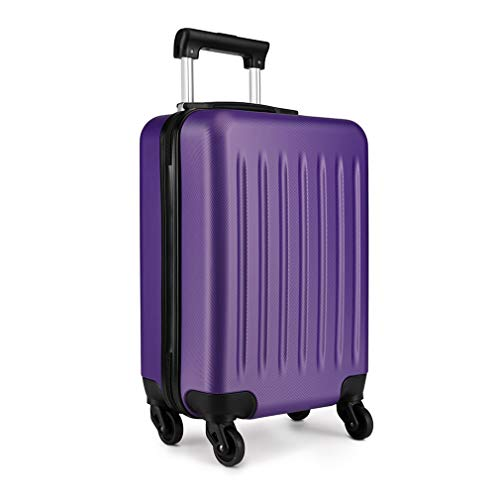 Kono 19 Inch Hard Shell Hand Luggage Suitcases with 4 Spinner Wheels Lightweight Cabin Carry-on Small Travel Trolley Case(19', Purple)