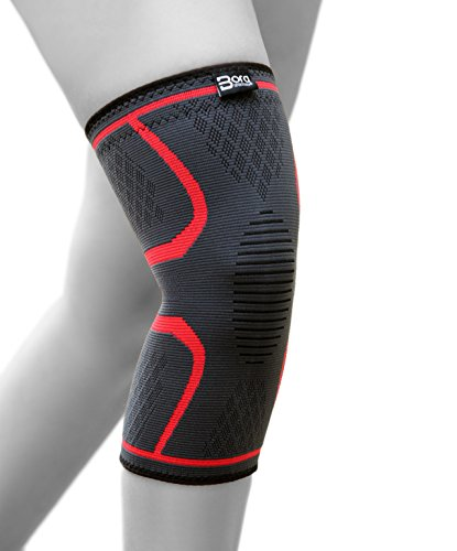 BoraSports Elastische Kniebandage mit Kompressionseffekt für mehr Stabilität im Alltag und Sport - hochwertige Kniekompresse (S)