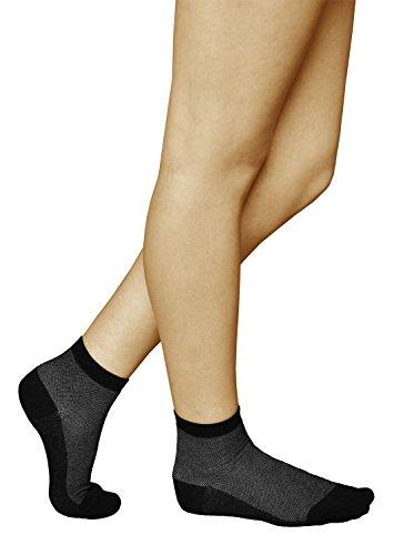 vitsocks 3 Paar antibakterielle Damen Socken mit SILBER, Atmungsaktive Klimazone, Health, 35-38, grau