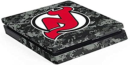 Skinit Decal Gaming Skin for PS4 Slim - Officially Licensed NHL New Jersey Devils Camo Design