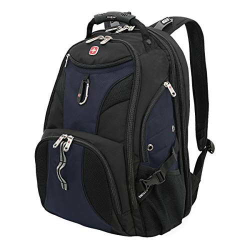 SwissGear 1900 Scansmart TSA Laptop Backpack – Black/Blue