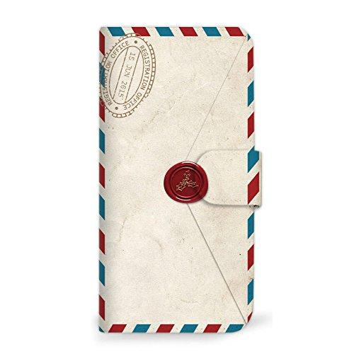 mitas iPhoneSE 第2世代 ケース 手帳型 手紙 封筒 切手 B (249) SC-0231-B/iPhoneSE_2020