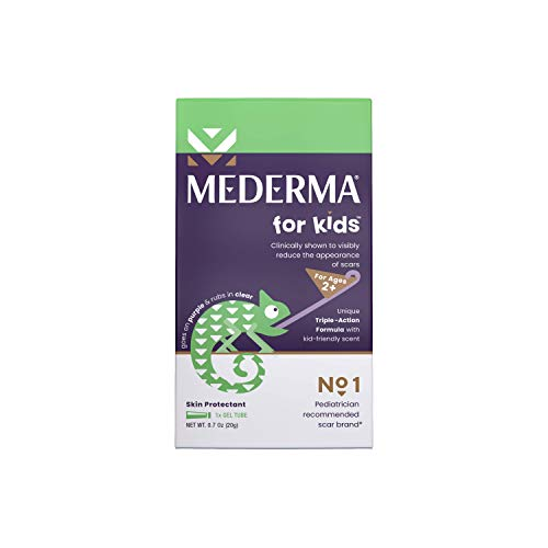Mederma Kids Skin Care for Scars - Reduces the Appearance of Scars - #1 Pediatrician Recommended Product for Kids' Scars - Goes on Purple, Rubs in Clear - Kid-Friendly Scent - 20 Grams