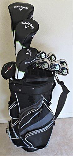 Callaway Mens Left Hand Golf Set Complete Driver, Fairway Wood, Hybrid, Irons, Putter, Clubs & Cart Bag LH