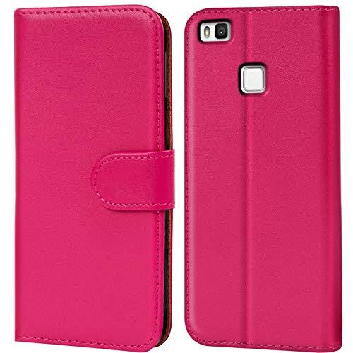 Verco Funda para Huawei P9 Lite, Telefono Movil Case Compatible con Huawei P9 Lite Libro Protectora Carcasa, Rosa
