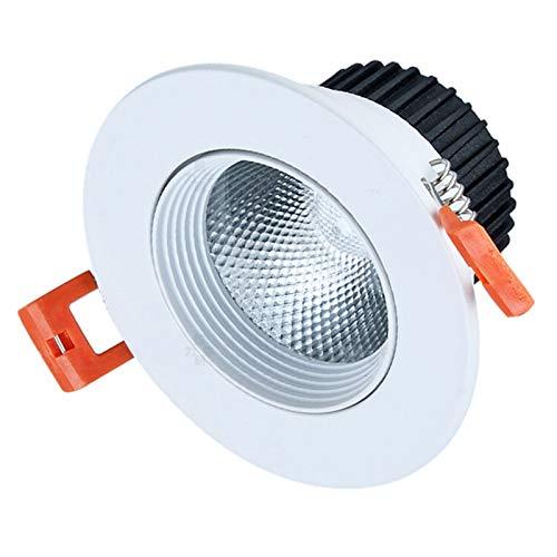 BDSHL Luz LED Empotrable de Techo con Ángulo de Luz Ajustable, Ángulo de Luz Descendente Tipo Globo Ocular para Focos de Iluminación Empotrados en Interiores, 4 Colores de Luz 9 Potencia