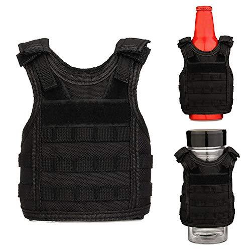 Tactical Beer Vest Military Mini Vest met Molle Webbing Drank Waterfles Cans Houder