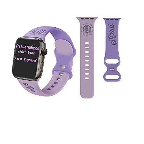 Bandas personalizadas compatibles con Apple Watch series 6 5 4 3 2 SE Sport Bands 38mm 40mm 42mm 44mm para mujeres hombres, muñequeras de silicona suave con hebilla ajustable 2021 regalos de navidad
