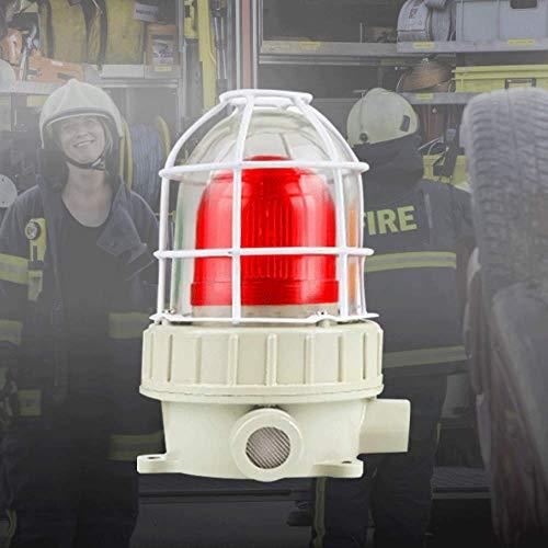 YJINGRUI Industrial Signal Light 110db Explosion Proof Signal Tower Light IP66 LED Warning Light Rotating Flashing Signal Lamp (DC36V)