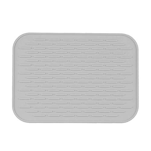 XHCP 2 Pack Waterproof Silicone Placemats,not-Stick Baking Mat Not-Slip Dining Placemat Heat Resistant Countertop Protector Pads Kids Adults Red 21.5x15.5x0.5cm(8x6