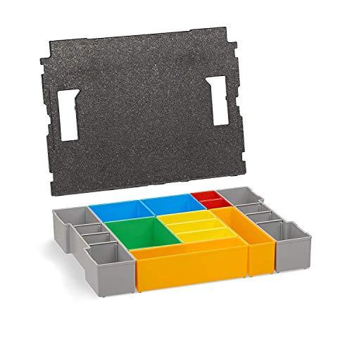 Werkzeugkoffer Set | L-BOXX 102 Insetboxen-Set | H3 Einsätze mit Deckenpolster | Sortierboxen für Kleinteile | Ordnungssystem Schrauben