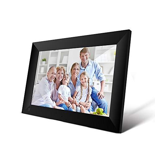 Marco de Imagen Digital, Marco de Fotos Inteligente de Pantalla táctil de resolución HD de 10.1 Pulgadas con Soporte Desmontable