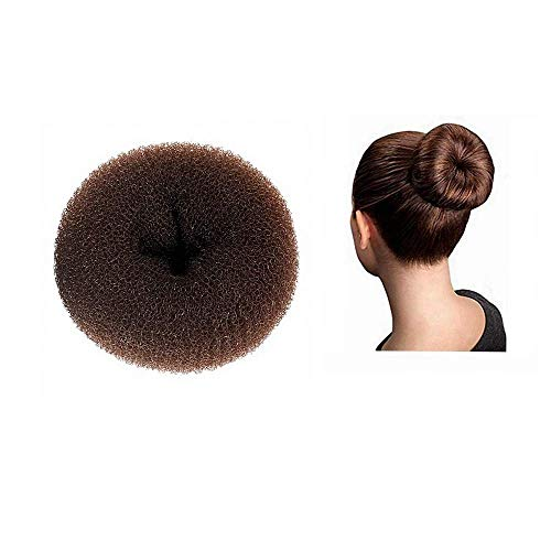 DILISEN 1 pièce ÉNORME Extra Large Taille Cheveux Bun Donut Maker, Ring Style Bun, Femmes Chignon Donut Buns Donut Shaper Hair Bun Maker 6,3 Pouces (pour Cheveux épais et Longs) (XX-Brown)