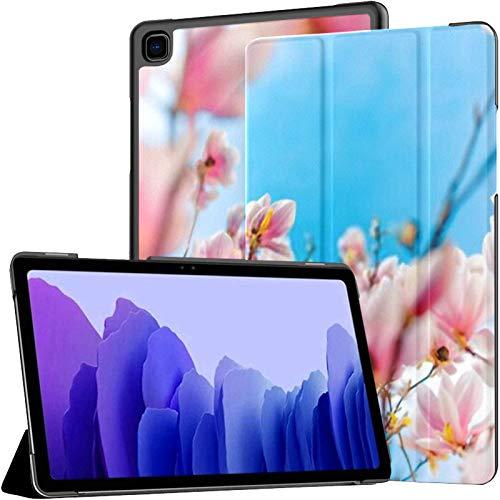 Funda para Tableta Samsung A7 Fondo de Naturaleza Primavera Verano Funda Rosa para Samsung Galaxy Tab A7 10.4 Pulgadas Funda Protectora de liberación 2020 Funda Protectora para Samsung Galax