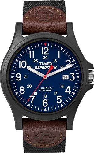 Timex Expedition Camper Date 40 mm Men Black Resin Case Black Fabric Strap Watch TWF3C8410