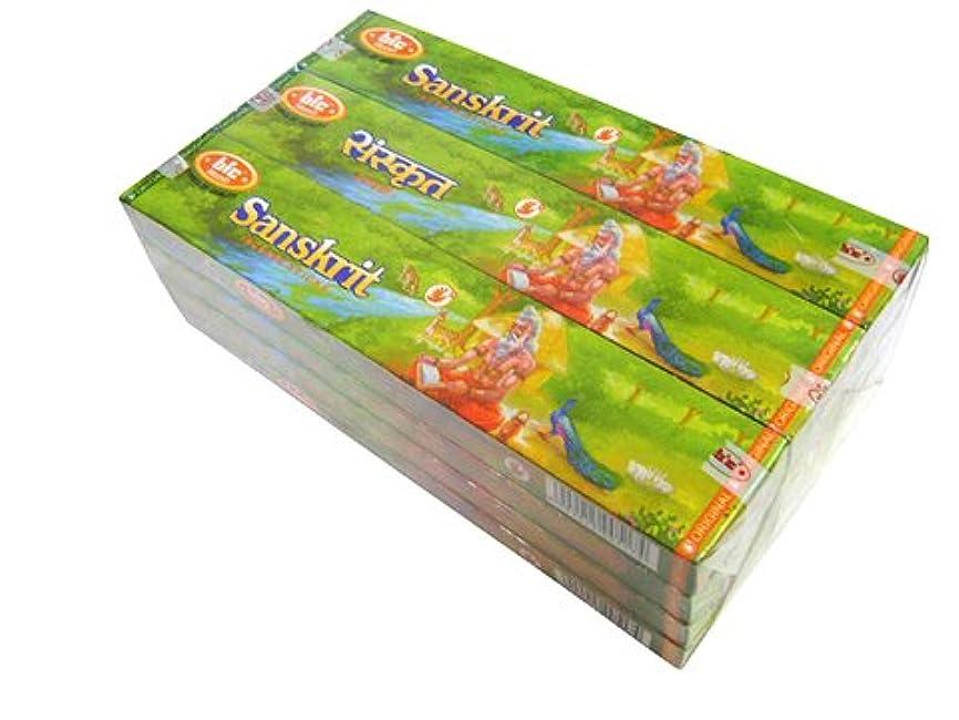 波経由で静めるBIC(ビック) サンスクリット香(レギュラーボックス) スティック SANSKRIT REG BOX 12箱セット