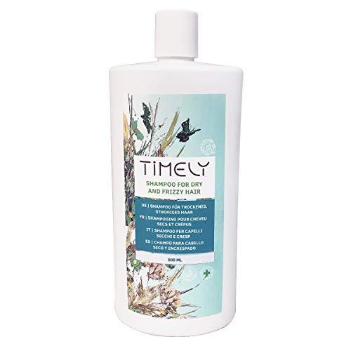 3. Timely – Champú hidratante para cabellos secos y encrespados, 500 ml