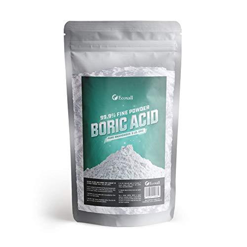 Premium - 99% Pure Boric Acid Powder - Anhydrous Fine Powder - 16 oz - 1 Pound Bag - Industrial Grade Strength - Multi-Purpose - Ecoxall Chemicals