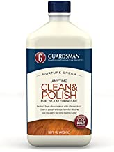 Guardsman 461500 Clean & Polish For Wood Furniture - Cream Polish - Silicone Free, UV Protection - 16 oz, 1 Count