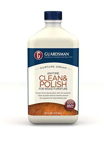 Guardsman Clean & Polish For Wood Furniture - Cream Polish 16 oz - Silicone Free, UV Protection - 461500