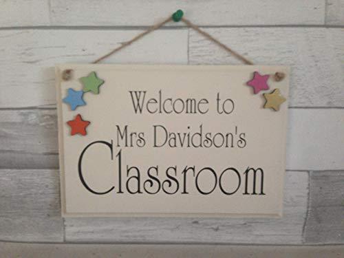 Handmade Teacher's Classroom Welcome Sig