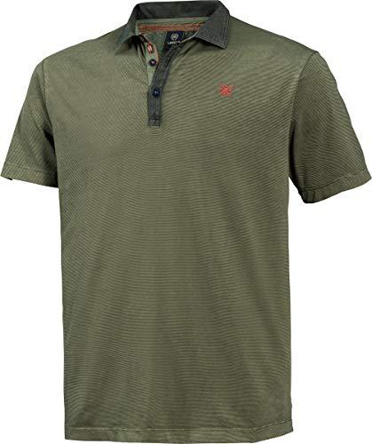 LERROS Herren Polohemd in Oliv, Kurzarm-Poloshirt aus 100% Baumwolle, angenehmer Modern Fit-Schnitt, Gr. 48-60