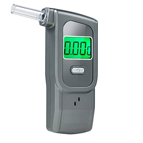 Breathalyzer, Professional Alcohol Tester, Portable Breath Alcohol Analyzer with 5 Mouthpieces for Home Use