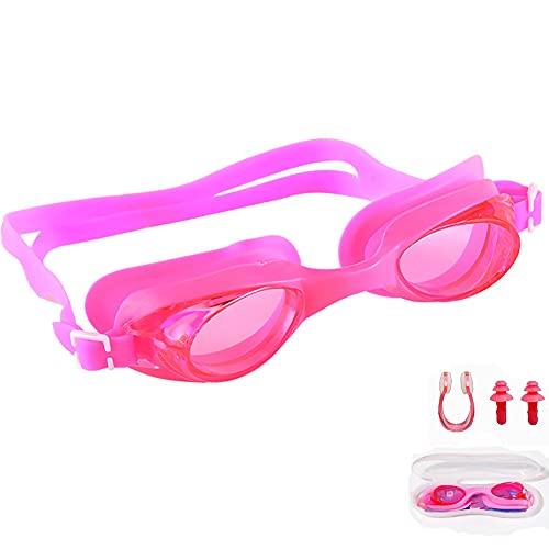 KAKAF Gafas de natación, gafas de buceo, gafas de baño, antifugas, antivaho, protección UV, correa de silicona ajustable, máscara de buceo con pinza para la nariz y tapones para los oídos