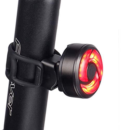 Liangcheng Coda della Luce della Bici, Creativo Ultra Luminosa Intelligente Posteriore della Luce della Bici con 5 modalità Outdoor Portable LED di Sicurezza Spia,Smart
