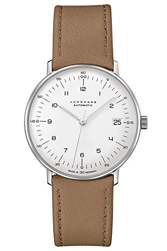 Junghans max Bill Armbanduhr Kleine Automatic Beige/Silberfarben 027/4107.02