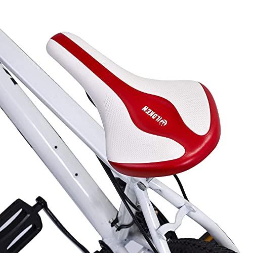Asvert Sillin Bicicleta Antiprostatico,Asiento Bbicicleta,Sillin Bicicleta Gel Sillin Bicicleta Montaña,Sillin MTB,Sillin Bicicleta Gel btt (M4)