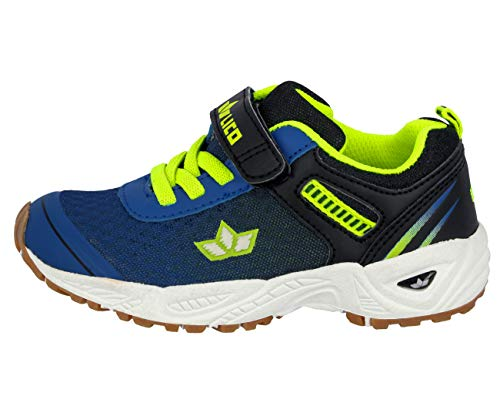 Lico BARNEY VS Unisex Kinder Multisport Indoor Schuhe, Blau/ Schwarz/ Lemon, 31 EU