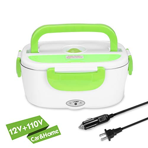 YISSVIC Electric Lunch Box for Car and Home 110V/12V Food Heater Food Warmer Portable with Removable Stainless Steel Container