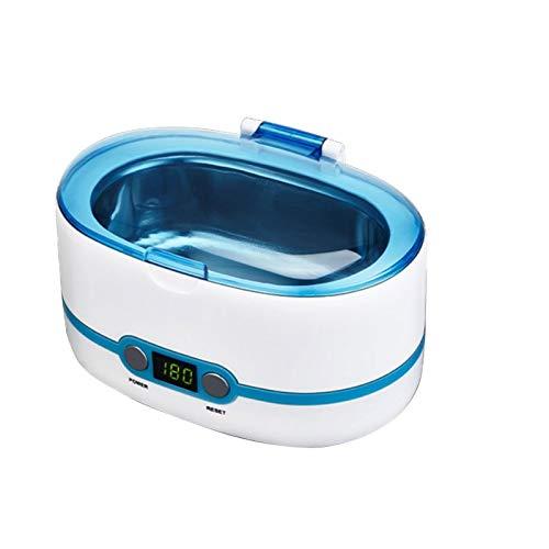 Máquina de limpieza de gafas Limpiador de joyas, Limpiador ultrasónico de 43 khz Limpiador de baño ultrasónico profesional de 750 ml, sincronización de 5 velocidades, limpieza de 360 grados, limpi