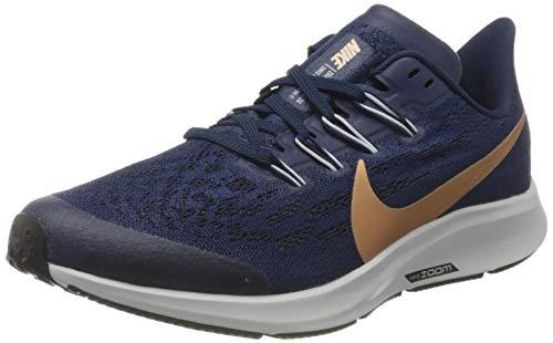 Nike Air Zoom Pegasus 36 (GS), Sneakers Basses Mixte, Bleu (Midnight Navy/MTLC Red Bronze-103), 39 EU