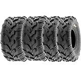 SunF 18x7-8 18x9.5-8 ATV UTV Tires 6 PR Tubeless A003 [Bundle]