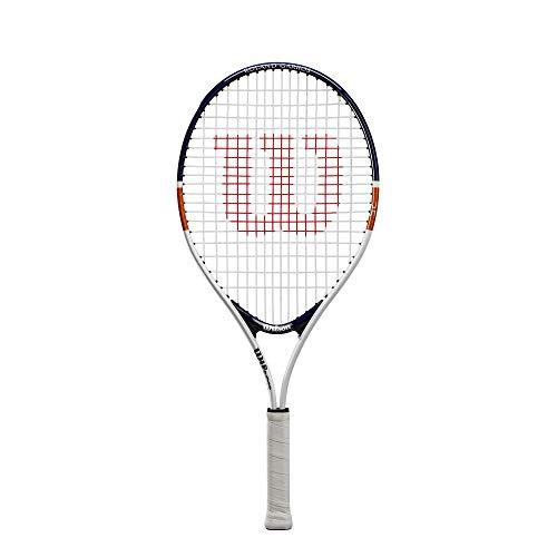 Wilson Roland Garros Elite 25, Raqueta de Tenis, para niños de 9 a 10 años, para Niños, Blanco/Azul
