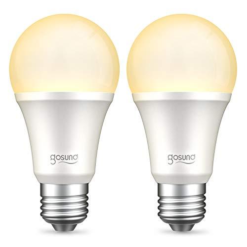 {【Amazon Alexa認定】ゴウサンド(Gosund) WiFiスマート電球 スマート LED ランプ 電球色 調光・タイプ E26 スマートライト Alexa/Google home対応 追加機器不要 2個}