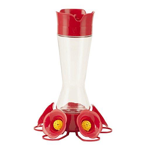 Perky-Pet 204CP-4 Favored Pinch-Waist Glass Hummingbird Feeder – 16 oz