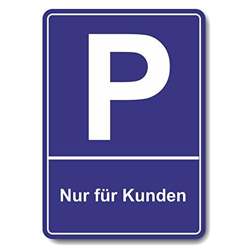 Kundenparkplatz, Schild oder Aufkleber 300 x 213 mm Parkplatzschild (300 x 213 mm Kuststoffplatte mit Aufkleber)