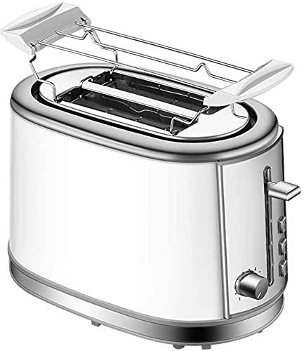 Profession Tostadora, tostadora de pan de acero inoxidable, tostadora de 2 rebanadas, diseño de bandeja de polvo