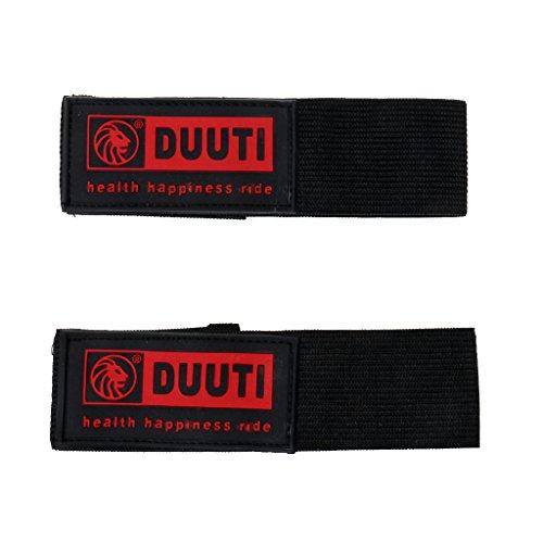 Generic 1 Paar Hosen Klettband, Hosenband mit Klettverschluss, Selbstklebend zum Joggen, Radfahren, Reiten - Schwarz