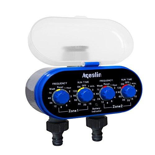 Aqualin Bewässerungsuhr mit Zwei Auslässen Garten Bewässerungscomputer Wasser Zeitschaltuhr