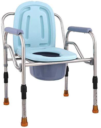 GUOZ Folding Toilettenstuhl, KopfendeCommode mit WC-Art-Sitz, Extra Wide mit Eimer Spritzschutz