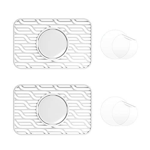 EDIMENS 2 Packs Airtags Brieftasche hülle Kompatibel mit Apple Airtags, Kreditkartengröße Schutzhülle mit Schutzfolie Tag Karte Flex für Geldbeutel Clutch Handtaschen Rucksack Damen Herren, Weiß