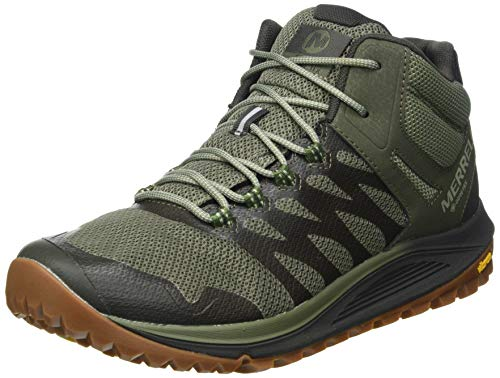 Merrell Nova 2 Mid GTX, Zapatillas para Caminar Hombre, Verde (Lichen), 47 EU