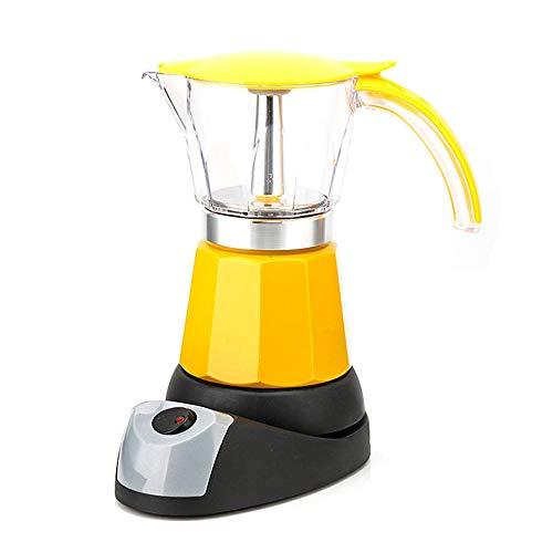 Portable Electric Coffee Maker Espresso Italian Mocha Maker Coffee Percolators Electric Moka Pot (Color : Yellow)