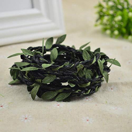 200cm / lot kunstbloemen wijnstok kerst voor thuis bruiloft decor bruids accessoires klaring nep floristiek diy krans geschenken, zwart